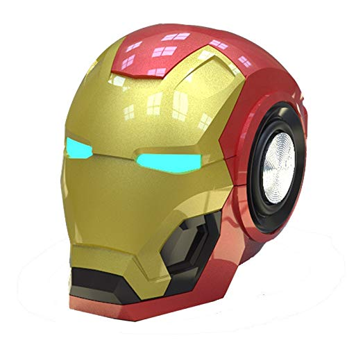 Liuying Altavoz Bluetooth inalámbrico Iron Man Portátil Mini Hifi 360 Stereo Subwoofer Barra de Sonido Iron Man Optimus Prime Altavoz Principal