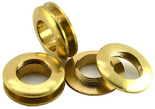 Okones Pack of 10,7/8''(22mm) Diameter,Solid Brass Grommet Eyelets buckle Scrapbook Stamping Leathercraft Backing Corns (Diameter7/8'' 22mm)