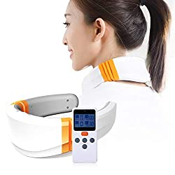 MEISHENG Electric Cervical Neck Massager Wireless Remote Control Massage Tool Intelligent Physiotherapy Massager