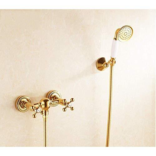 Zixin Taps Wasserfall Goldene Bad-Dusche-Hahn-Set Wasserspender Spray heißen und kalten Wasserhahn Wasserhahn Hygiene Taps