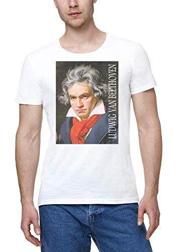 Ludwig Van Beethoven Classic Music Música clásica Hombres Camiseta Blanco | Men's...