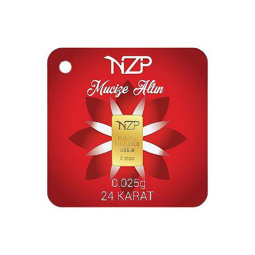 Nzp Goldbarren 0,025 Gramm Goldbarren, 0,025g Gold, Feingehalt 995