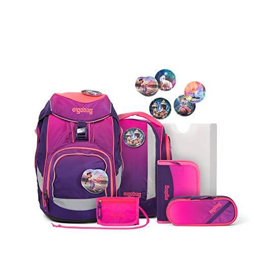 Ergobag Pack FeentraumBär, ergonomischer Schulrucksack, Set 6-teilig, 20 Liter, 1.100 g, Pink