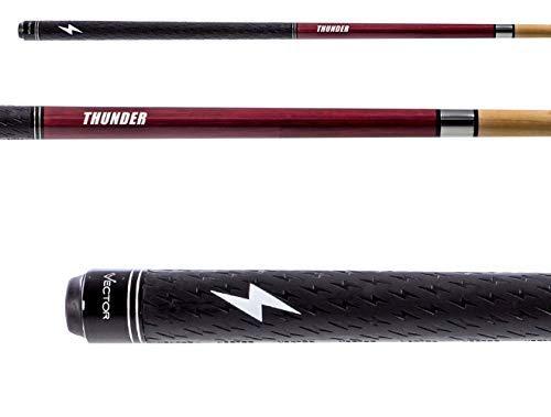VECTOR Thunder Sport Wrap Break Billiards Cue - Professional Pool Stick for Men and Women