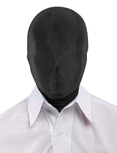 Seeksmile Unisex Spandex Full Cover Zentai Hood Mask (Adult Size, Black)