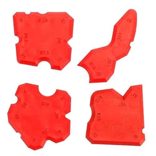 SHUGJAN 4pcs / Set Red calfeutrer Tool Kit Joint d'étanchéité en silicone COULIS Scraper Nettoyant for plancher Carreaux Nettoyeur à main Accessoires de bricolage outils de réparation de m