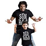 Bon Organik Cotton Black My Son/Dad My Hero Dad and Son Matching Combo