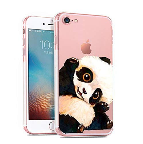 iPhone 6 6s Case,[Color Printed] Cute Panda Series Soft TPU Silicone Protective Skin Ultra Slim & Clear with Unique…