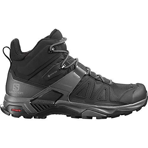 SALOMON X Ultra 4 Mid GTX, Zapatillas de Senderismo Hombre, Black/Magnet/Pearl Blue, 44 EU