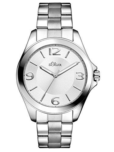 s.Oliver Damen-Armbanduhr Analog Quarz Edelstahl SO-2968-MQ, silber
