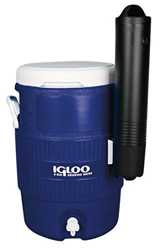 IGLOO 5 Gallon Seat Top Getränkebehälter mit Becherhalter und Zapfhahn, 18.9 Liter, Orange