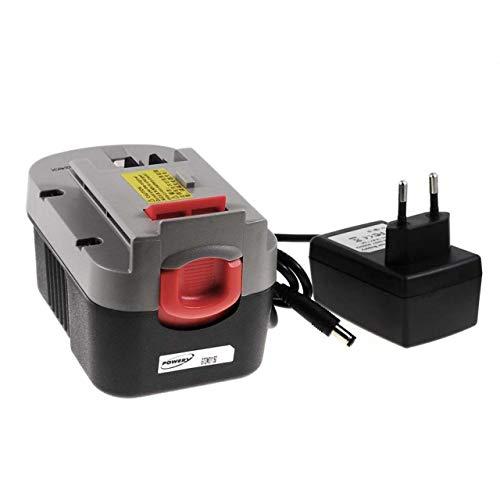 Batería para herramienta Black & Decker Multi herramienta QUATTRO KC2002FK Li-Ion incl. cargador, 14,4V, Li-Ion