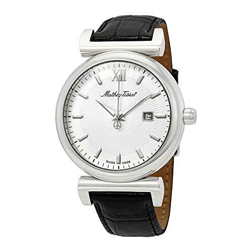 Mathey Tissot Elegance Herren-Armbanduhr, weißes Zifferblatt, H410ALI