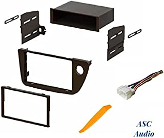 ASC Audio Car Stereo Dash Install Kit and Wire Harness for Installing an Aftermarket Radio for 2002 2003 2004 2005 2006 Acura RSX