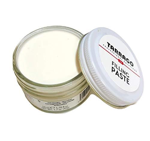 Tarrago   Filling Paste Jar 50ml   Pasta de Relleno para Reparar Todo Tipo de Calzado de Cuero, Cuero Sintético y Goma (Incoloro 00)