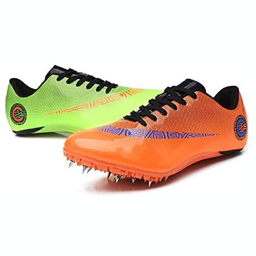 XKDWAN Zapatillas de Fútbol Hombre Profesionales Spike Atletismo Zapatos 8 Clavos Spikes Zapatos Aire Libre Atletismo Zapatos de Entrenamiento Zapatos de Deporte,005,45