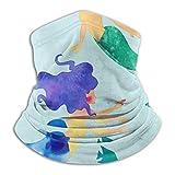 shenguang Scaldacollo in microfibra Blue Sea Mermaid Divertente scaldacollo Tube Scaldacollo Fascia per capelli Sciarpa Maschera per il viso Passamontagna