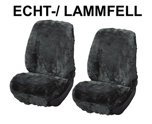 RAU Universal Autositzbezug Echtfell Lammfell anthrazit, Fahrzeug Siehe Text