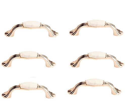 Tirador Arco Cerámica- Decorativo Creative Cerámica Gabinete Mangos, Pomos con Tornillos, Para Armario Cajones de Puerta Tiradores