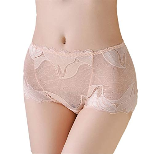 LATA Interior Sexy para Mujer, Bragas deslizantes de Encaje de Color sólido,