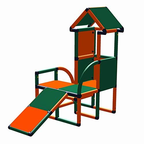 move and stic - Rutschenturm LEVI Spielhaus mit Kleinkindschräge für Kinderzimmer oder Garten