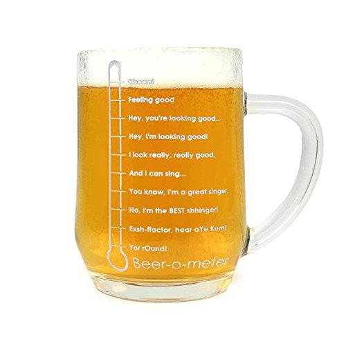 Arcoroc Ursprüngliche BierGlas / Gläser / Barbedarf/ Tankard : Beer-O-Meter 20oz / 568ml