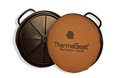"ThermaSeat Unisex-Erwachsene Bucket Lid Spin Seat by Tasche, Coyote Brown/Mossy Oak, 1.5"" Thick"