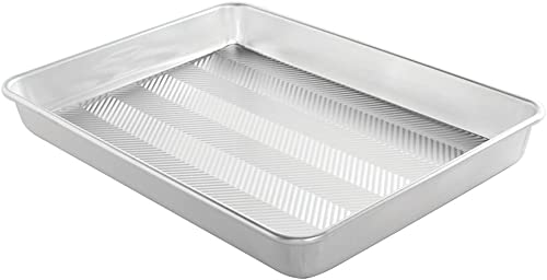 """lowest Nordic Ware Prism 13"""" X 17.75"""" High-Sided Sheet 2021 Cake online sale Pan, Metallic outlet sale"""