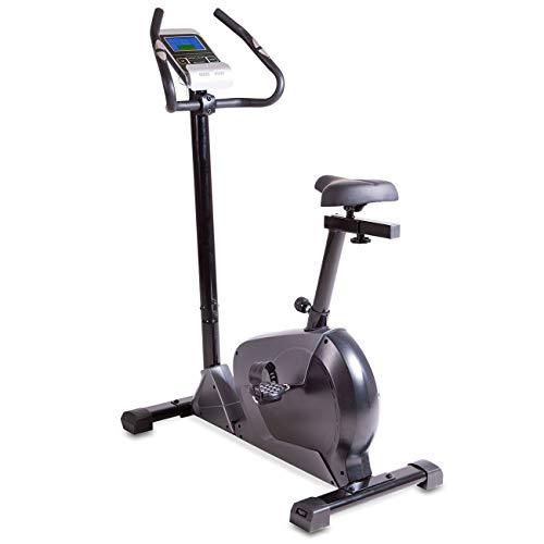 maxVitalis Fitnessbike mit LCD-Trainingscomputer | Handpulssensoren | 24 Widerstandsstufen | aktiv Pro 7.0
