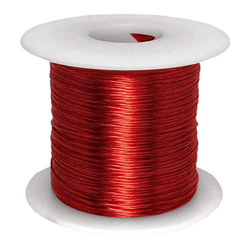 Litz Wire, 14 AWG Unserved Single Build, 5/52/38 Stranding, 1.0 lb Spool, Ideal for ~100 kHz Applications