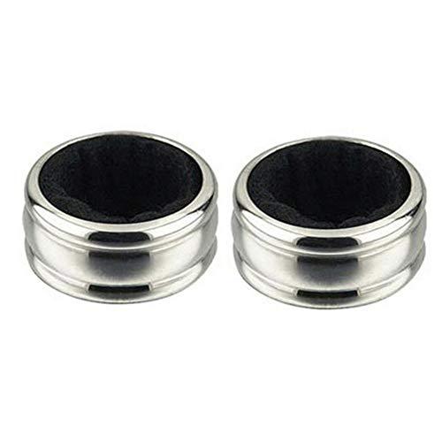 Markcur - 2 anelli per vino in acciaio inox, per vino rosso, a goccia, accessorio per bottiglie di vino