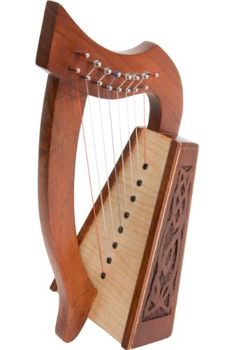 Roosebeck Lily Harp, 8 Strings, Knotwork