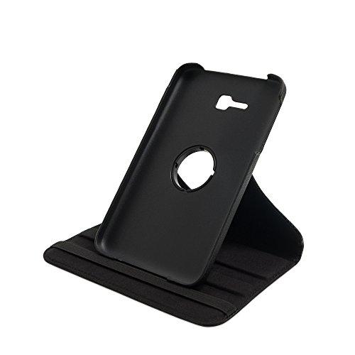 Drehbare Hülle mit Standfunktion für Samsung Galaxy Tab 3 lite 7.0 in SCHWARZ mit automatischer Sleep- & Wake-Up-Funktion [passend für Modell SM-T110, SM-T111, SM-T113, SM-T116]
