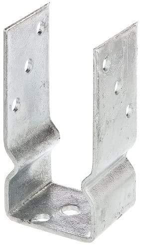 Gartenwelt Riegelsberger Support de poteau en U Basic 71 mm en acier galvanisé à chaud pour poteaux 70 x 70 mm