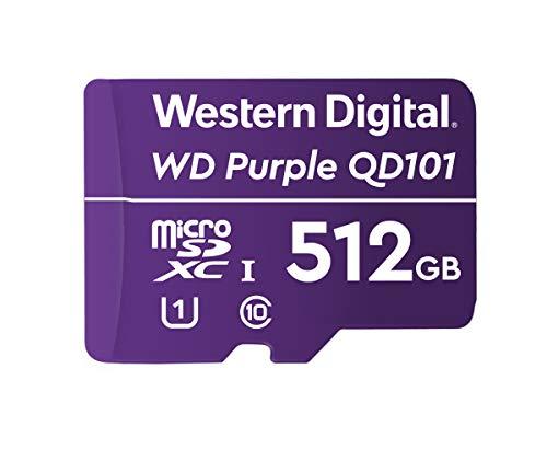 WD Purple 512Go Surveillance microSD XC Class - 10 UHS 1