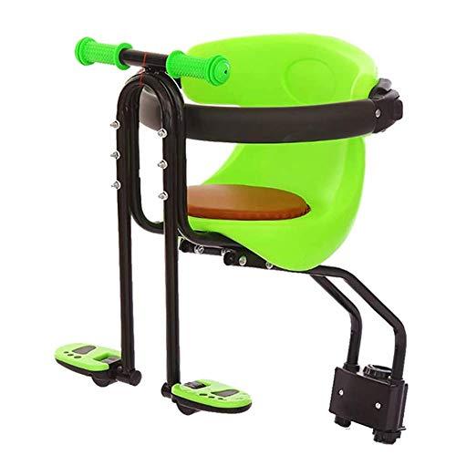 HFJKD Tragbarer Kindersitz Fahrrad Fahrrad Kinder Front Baby Sitz Fahrradträger mit Handlauf und Fußpedalen für Mountainbikes Rennräder