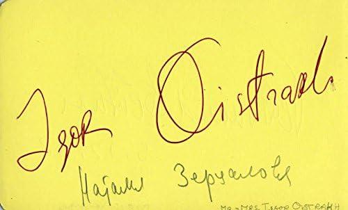 Igor Oistrakh - Signature Circa Max 60% OFF Lei by: co-signed Ferdinand Max 58% OFF 1968