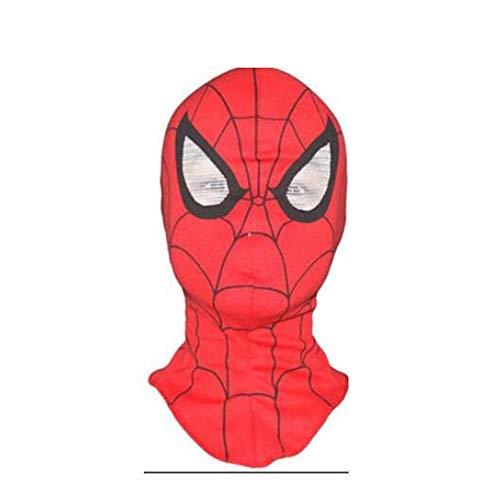 ZHANGXLAA Kinder Außergewöhnliche Maske Spider-Man Hood Maske Erwachsenen Maske Held Rückkehr Film Hut Vollgesicht Hand,Red