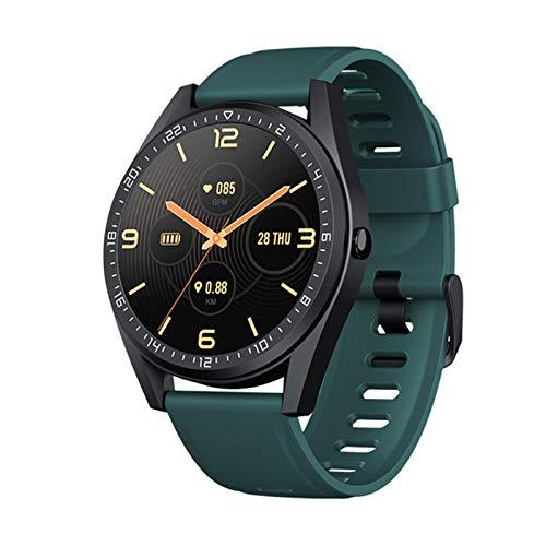 Smart Watch, 24-timmars hjärtfrekvens och blodtrycksövervakning Vattentät inbyggd GPS 5ATM E2 SPORTS Kompatibel med iOS och Android,B