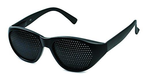 Rasterbrille 415-JGF feiner Raster, schwarz