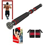 AmazeFan Pull Up Bar for Doorway | Chin-Up Bar with Extended Hand Grips - 2 Professional Quality...