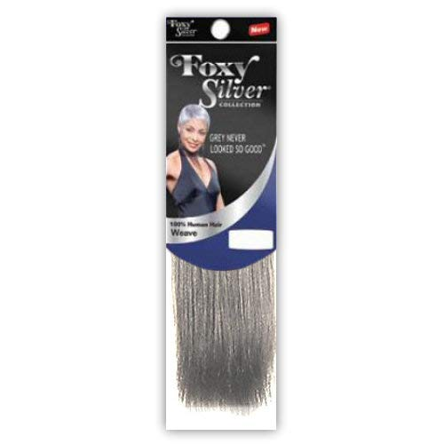Foxy Silver (Weave - HH Yaki Straight) 14 inch - 100% Human Hair Weave in 44