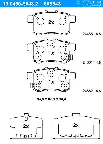 ATE - TEVES 13.0460-5648.2 Bremsbelagsatz, Scheibenbremse
