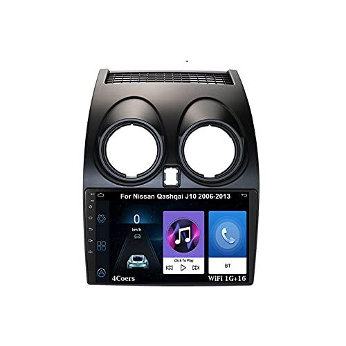 Autoradio GPS Navigazione Music 9 Pollici HD Touch Multimedia Per Nissan Qashqai J10 2006-2013 Collega E Usa Bluetooth Vivavoce Controllo Del Volante Telecamera Posteriore