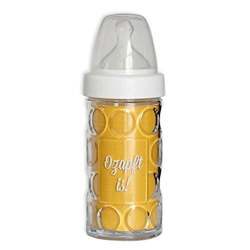 Geschenkbox ® Bayerische Baby-Nuckel-Flasche mit Henkel als Nuckel-Krug mit Aufdruck