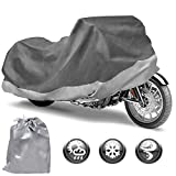 Motor Trend Motorcycle Cover Waterproof Outdoor All Weather Protection - Fits up to 104' (MCC545)
