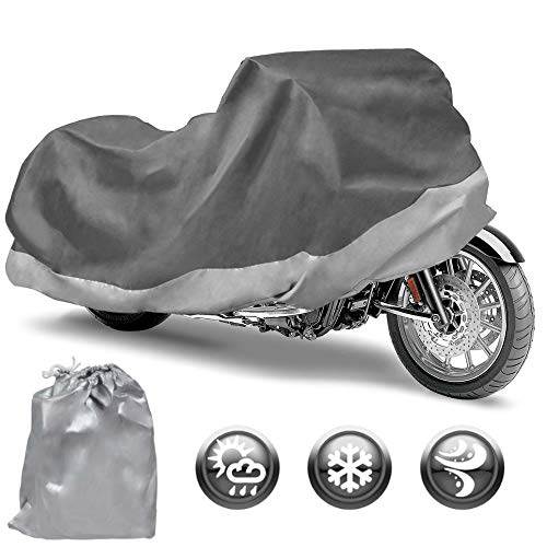 """Motor Trend Motorcycle Cover Waterproof Outdoor All Weather Protection - Fits up to 104"""" (MCC545)"""