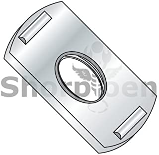 Box Quantity 1000 by Korpek.com BC-11NWP2 10-32 Multi Projection Tab Weld Nut Plain
