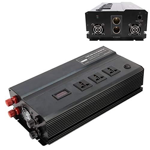 2000W DC 24V a 220V AC coche de múltiples funciones de onda sinusoidal pura inversor de la energía, color al azar de entrega Alta calidad