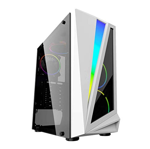 FAST Intel Core i5 Gaming PC Computer 8GB RAM 1TB HDD Windows 10 GT 710 2GB WIFI - MARS 4x ARGB Fans & Tempered Glass,Gaming Pack